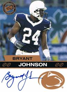 2003 Bryant Johnson Press Pass Bronze Rookie Auto Autograph