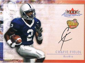 2000 Chafie Fields Fleer Traditions Autographics Rookie Auto Autograph