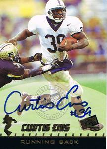 1998 Curtis Enis Press Pass Rookie Auto Autograph