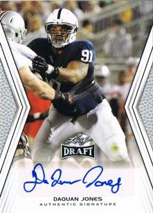 DaQuan Jones 2014 Leaf Draft Autograph