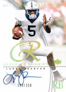 2003 Larry Johnson Ultimate Collection Rookie Auto /250