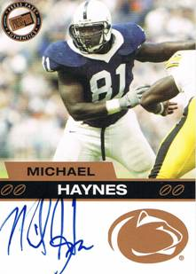 2003 Michael Haynes Press Pass Bronze Rookie Autograph Auto