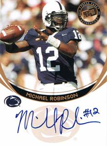 2006 Michael Robinson Press Pass Bronze Rookie Auto Autograph