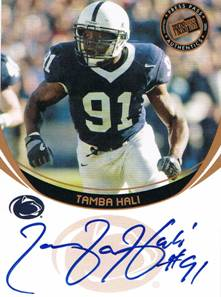 2006 Tamba Hali Press Pass Bronze Rookie Auto Autograph